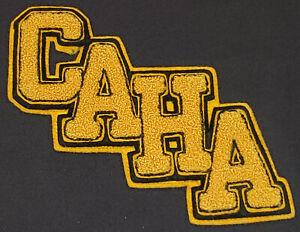 1950's CANADIAN AMATEUR HOCKEY ASSOCIATION C.A.H.A. JACKET FELT CREST - ORIGINAL