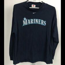Mariners NIke Team MensLong Sleeve  Blue Shirt XL