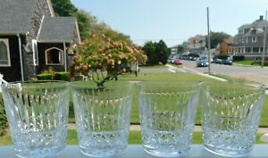 """SET OF 4 WATERFORD CRYSTAL TRAMORE MAEVE 3 1/2"""" OLD FASHIONED GLASSES TUMBLERS"""