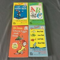 Dr Suess VHS Lot of 4, One fish, Green eggs & ham, Cat comes back