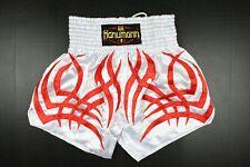 Hanumann MMA Short Size Xl White Fire Kickboxing Muay Thai Boxing