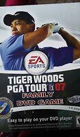 Tiger Woods PGA Tour 07 Family DVD Game-NIB- EA Sports - Easy 1-4 Players-Poster
