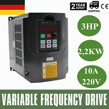 2.2KW 10A 3HP Variabile Frequenza Drive Inverter VFD Monofase a 3 Trifase 220V
