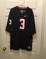 T) NWT Virginia UVA Cavaliers Bryce Perkins #3 Nike Blue Football Jersey 2XL