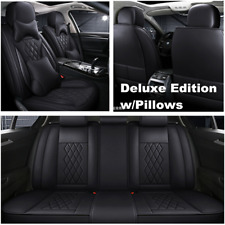 Car Seat Cover Front Rear PU Leather Protector Cushion For Interior Accessories