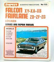 Falcon XY XA XB Fairlane ZD ZF ZG 6 Cyl Gregory's No 155 Service & Repair Manual