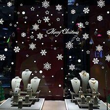 W307 Snowflake Christmas Window Decal Sticker Decor Cling Wall Decoration