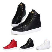 Mens Outdoor Walking Breathable Sneakers Jogging Sport Casual High Top Shoes New