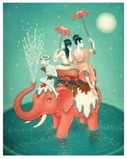SAFETY OF WATER LOWBROW ART PRINT SIGNED BY TARA MCPHERSON