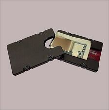 Black BILLET Aluminum Credit Card Holder/Wallet RFID Protection Money Clip