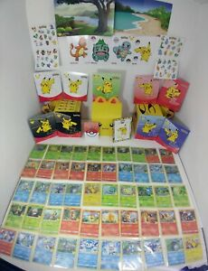 FULL MASTER SET 50 Holo + Non Pokemon McDonalds 25th Anniversary Cards + EXTRAS
