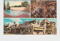 PPC POSTCARD NM NEW MEXICO SANTA FE LA FONDA HOTEL MULTI-VIEW ADVERTISING POOL E