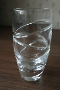 "1 Waterford Crystal ""Aura"" Hi Ball Glass by Jasper Conran, Superb, 14.5cm tall"