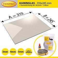 horno de vidrio de 24,5 x 29 cm de espesor Robax ® cristal chimenea 3 o 4 o 5 mm