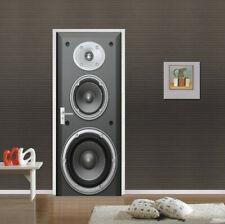 3D Large speaker Self Adhesive Living Room Door Stickers Wall Mural Poster Decor
