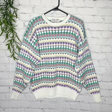 Fairy Kei Vintage Oversized Comfy Sweater Pastel Cute Kawaii Size Large 80s 90s
