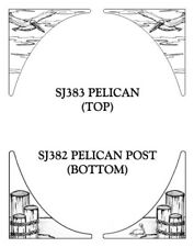 """10"""" X 10"""" Pelican corner static cling etched glass decal Removable, Reusable"""