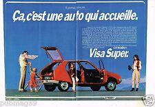 Publicité Advertising 1979 (2 pages) Citroen Visa Super