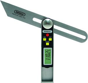 General Tools 828 Digital Sliding T-Bevel Gauge Digital Protractor Angle Finder