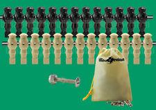 "13 Black/13 Tan Robotic Style Foosball Men for a 5/8"" Rod + 26 Screws/Nuts"