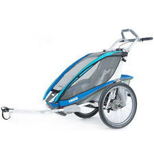 Chariot Thule CX1 Kids Baby Bike Trailer Blue inc Bike Kit Disc Brake Model