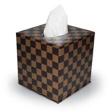 Kosmetiktuchbox Taschentuchbox PU-Leder Schachbrett Muster Tissuebox Kleenexbox