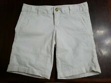 Womens Aeropostale White Chino Shorts Sz 3/4