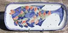 GRAN PLATO PIEDRA ARENISCA ESMALTE - EN EL SUELO D'UN PEZ - L. 56 cm - 2,630 kg
