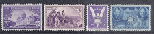 US 1941-1942 Complete Commemorative Year Set of 4 w/ China Resistance 906, MNH*