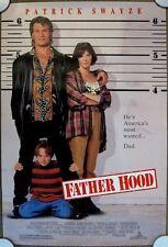 FATHER HOOD Original (1993) 27x40 Movie Poster PATRICK SWAYZE ~ MINT CONDITION!