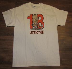 Denver Broncos Peyton Manning Mens T-shirt, Let's Do This, White, Size M, New