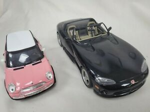 Mini Cooper 2001 Model SS6711 1:24 & Viper Dodge RT/10 1:18 Die Cast Toy #817