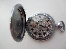 NEW! POCKET WATCH MOLNIJA 3602 USSR + Necklace Watch Часы Молния СССР карманные