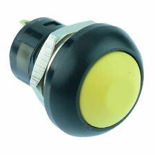 Yellow Waterproof On Off Latching 12mm Push Button Switch Spst Ip67