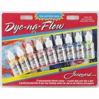 Jacquard Dye-Na-Flow Exciter Ink Bottles Acrylic For Material Pack 14ml 9/Pkg