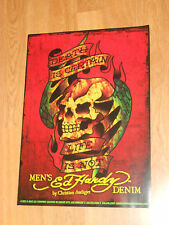 Ed Hardy Death Is Certain Life Is Not Poster Art Skull New