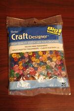 Darice Craft Designers Faceted Bead Transparent. 10mm #0601-36 485 pieces!