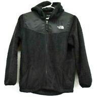 The North Face Girls Youth Large Hooded Full Zip Fleece Jacket Hoodie Black