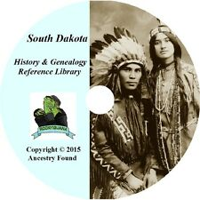 52 old books SOUTH DAKOTA -  History & Genealogy - SD Families County  DVD