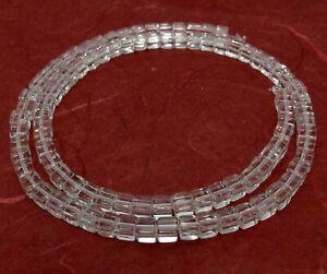😏 Bergkristall Perlen klare Würfel ca. 4 mm Edelsteinperlen Strang für Kette 😉