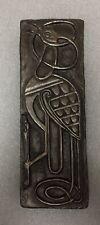 """Wild Goose Studio"""" Bird """"  Book of Kells Cold Cast Bronze effect Wall Plaque"""