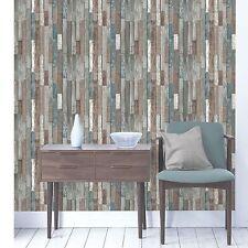 BOIS PLANCHES PAPIER PEINT - Bleu - fd40888 - Fine Decor en bois recyclé chambre