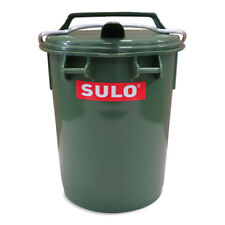 Futterbox Futtertonne Tiernahrung Behälter Eimer 35 L mit Klappe und Bügel grün.