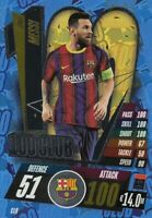 Match Attax 2020/21 Champions League #CL9 Lionel Messi (FC Barcelona) 100 CLUB