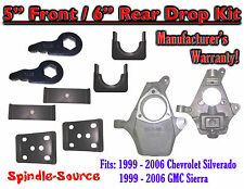 "5"" - 6"" Lower Drop Kit 1999 - 2007 Chevy Chevrolet Silverado GMC Sierra 1500 5/6"