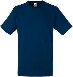 Tee-shirt Fruit Of The Loom navy HEAVY-T 100% coton - SC61212