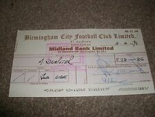 BIRMINGHAM CITY FOOTBALL CLUB CHEQUE 1970s  ORIGINAL Nice item POST FREE