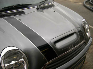 mini bonnet stripes with pin stripe, vinyl decal available in various colours
