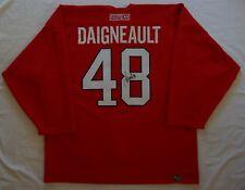 GAME WORN Canadiens J.J Daigneault + Autograph NHL Jersey CCM SZ56 W/MeiGray COA