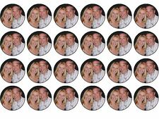 YOUR PERSONALISED PHOTO / LOGO Wafer Paper CupcakeToppers 24x4cm MAX 2 IMAGES